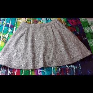 Alice + Olivia Grey Sequin Mini Skirt